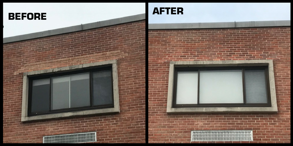 To Correct The Aging Windows And Failing Pre Cast Lintels At Existing Portion Of Seaford High School This Entailed Cutting Out Brick